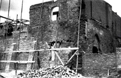 kościół w 1945