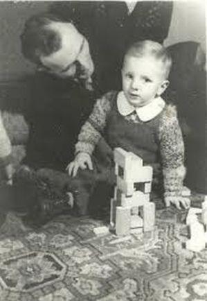 Stefan Michalak z synem; autor zdjęcia nieznany