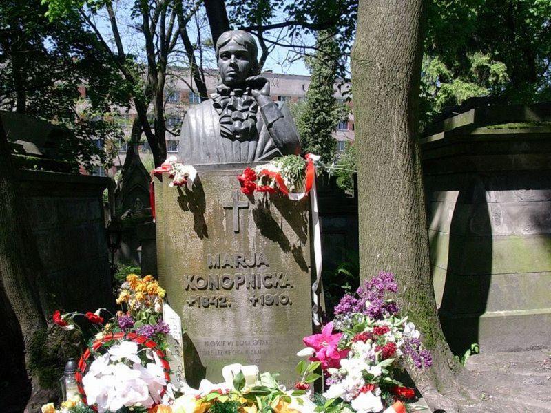grób Konopnickiej, źródło: domena publiczna