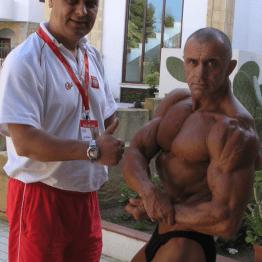 wraz z trenerem, Mistrzostwa Świata, Włochy - Sycylia 2007 fot. Grzegorz Zieliński