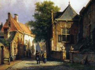 Ulica w Amsterdamie, Willem Koekkoek