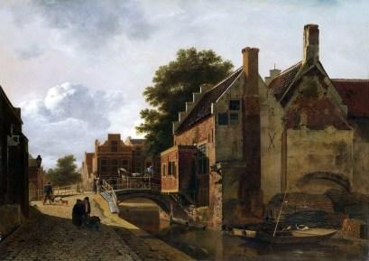 Kalvermarkt w Hadze - Jean François Valois, 1805-1808