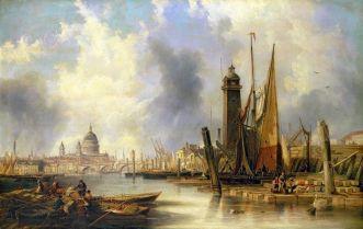 Widok na Londyn z katedrą św. Pawła - John Wilson Carmichael