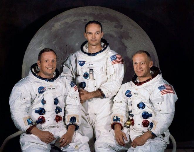 Członkowie misji Apollo 11 (od lewej): Neil Armstrong, Michael Collins, Edwin Aldrin
