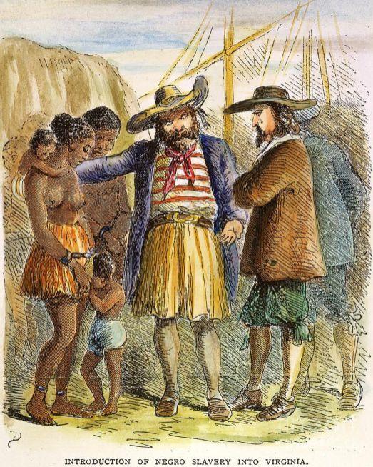 handel niewolnikami w Jamestown, 1619