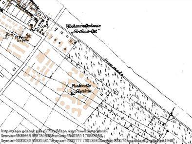 Mapa z zaznaczoną radiostacją w Jelitkowie (źródło: mapa.gdansk.gda.pl)