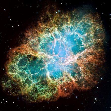 Mgławica Kraba jest pozostałością po supernowej z 1054 roku, obserwowanej przez chińskich astronomów