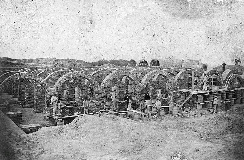 budowa zbiornika wodnego Ohra (Orunia), 1896 rok