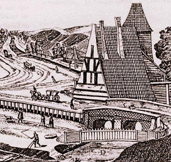Kunszt wodny na Targu Rakowym w 1617 r. (E. Dickman)
