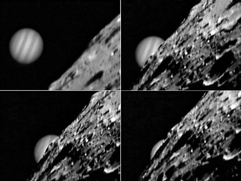 Mozaika zakrycia Jowisza przez Księżyc z dnia 07.12.2004 roku,  fot. Becky Coretti