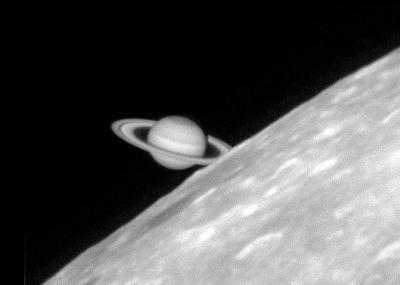 Zakrycie Saturna przez Księżyc z dnia 02.03.2007 roku,  fot. Damian Peach