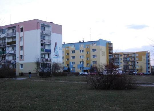 Bloki przy Cieszyńskiego; źródło: mapio.net