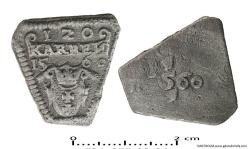 Żeton wałowy, 1560 r.