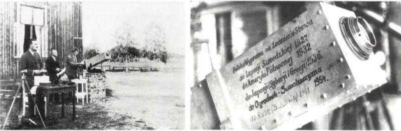 Polska ekspedycja zaćmieniowa do Laponii i chronokinematograf, który posłużył do badań szeregu kolejnych zaćmień (fot. J. M. Kreiner)