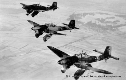 Bombowce nurkujące Ju-87 zwane Stukasami
