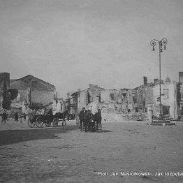 Wieluń zniszczony bombardowaniem w dniu 1 wrzesnia 1939 roku