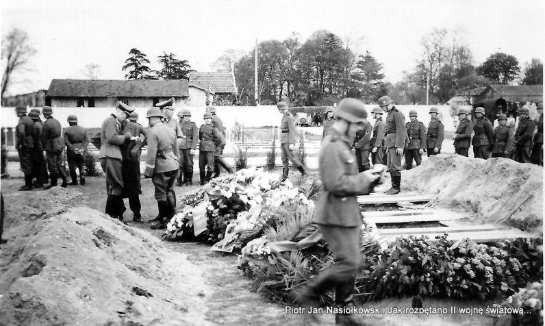 Gdańsk Srebrzysko. Pochówek zołnierzy niemieckich poległych w ataku na Westerplatte
