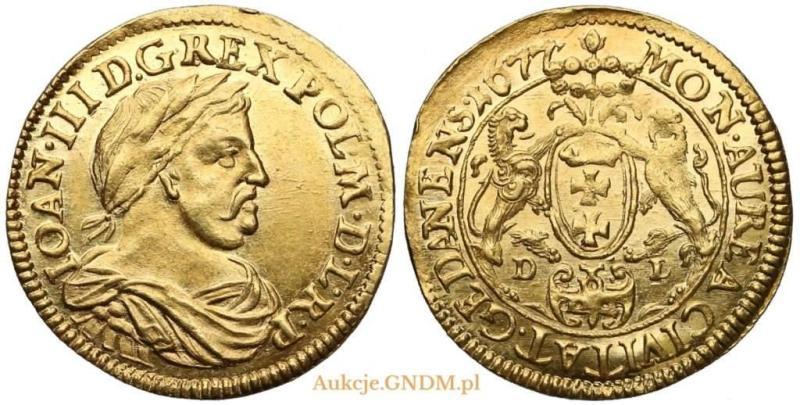 Dukat gdański 1677 D-L