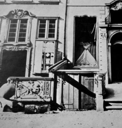 przedproże na ul. Długiej 14 w 1870 r
