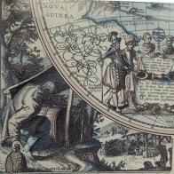 fragmenty mapy Magna Carta Mundi (reprodukcja),