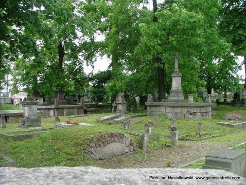 Panorama cmentarza ewangelickiego w Radomiu
