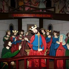 scenka z muzeum Robin Hooda