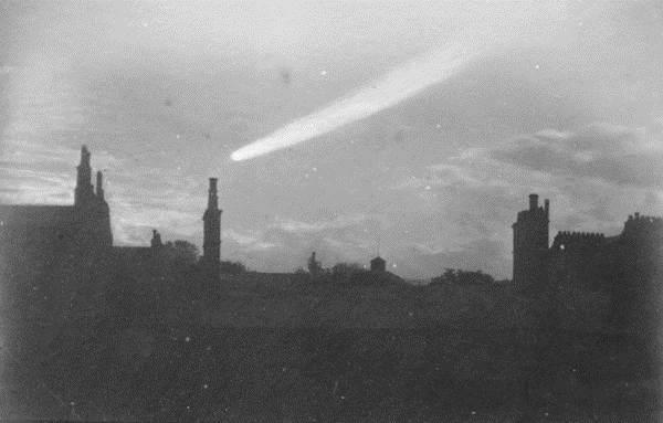 Wielka Kometa Wrześniowa 1882 na fotografii Davida Gilla (1843-1914)