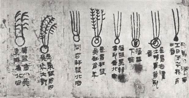 Starożytne chińskie zapiski dotyczące rozmaitych kształtów kolejnych obserwowanych komet