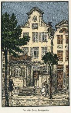 Kamienica przy Długich Ogrodach, ilustracja Artura Bendrata