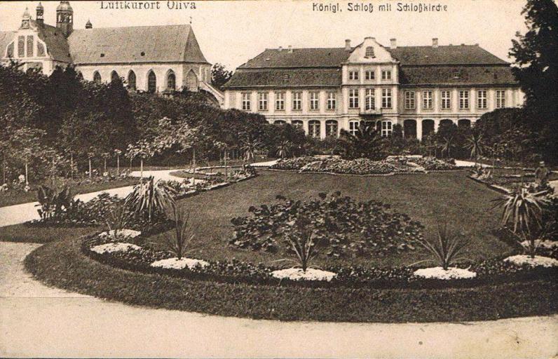Pałac Opatów w 1910 r.