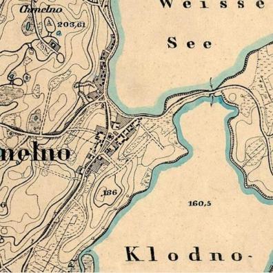 Chmielno na mapie z 1906 roku
