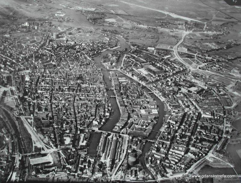 Zdjęcie lotnicze Gdańska z 1929 roku