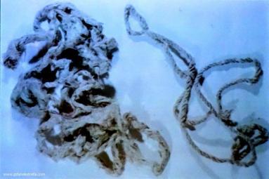 sznur, którym związywano ręce