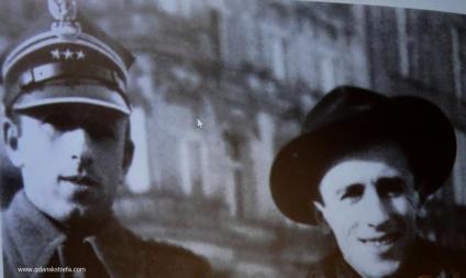 Juliusz Bardach z bratem Januszem, wypuszczonym z sowieckiego łagru.