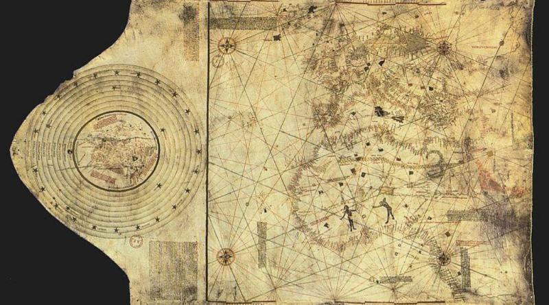 Oryginalna mapa Krzysztofa Kolumba z roku 1490.