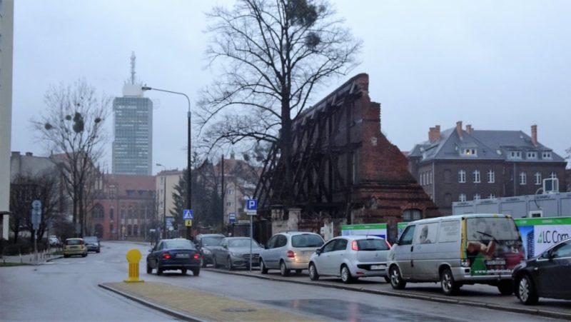 ciąg historyczny Wałowej po zburzeniu