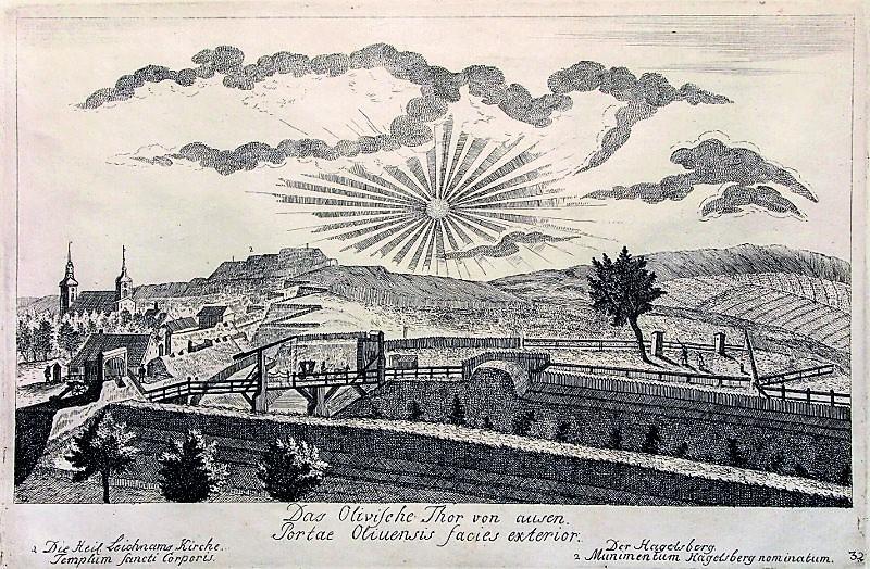 Matthaeus Deisch Brama Oliwska z zakosami 1761–1765