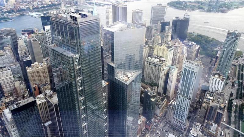 Widok na WTC 3 WTC 4