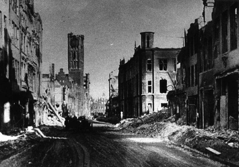 ulica Długa zniszczenia wojenne