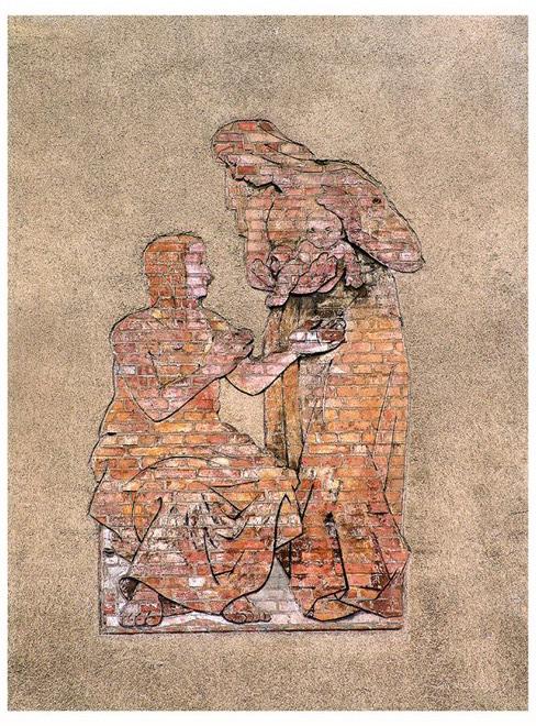 Bruno Paetsch, Macierzyństwo, płaskorzeźba