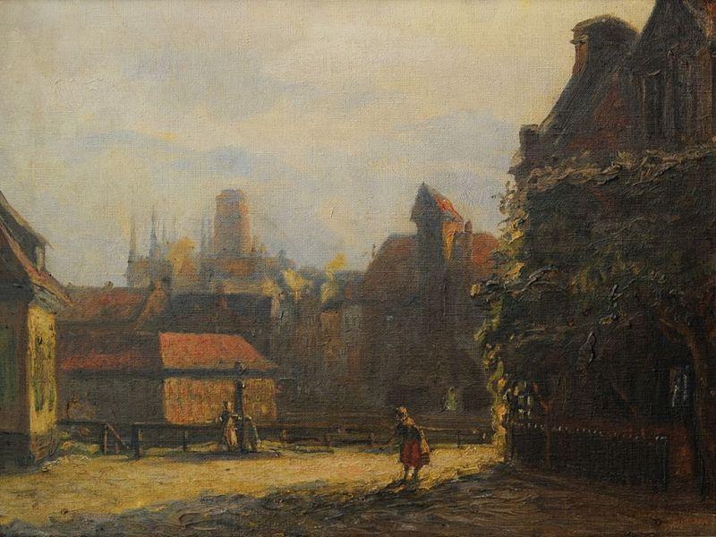 Reinhold Bahl, Widok Długiego Pobrzeża z Grobli_Angielskiej, 1920