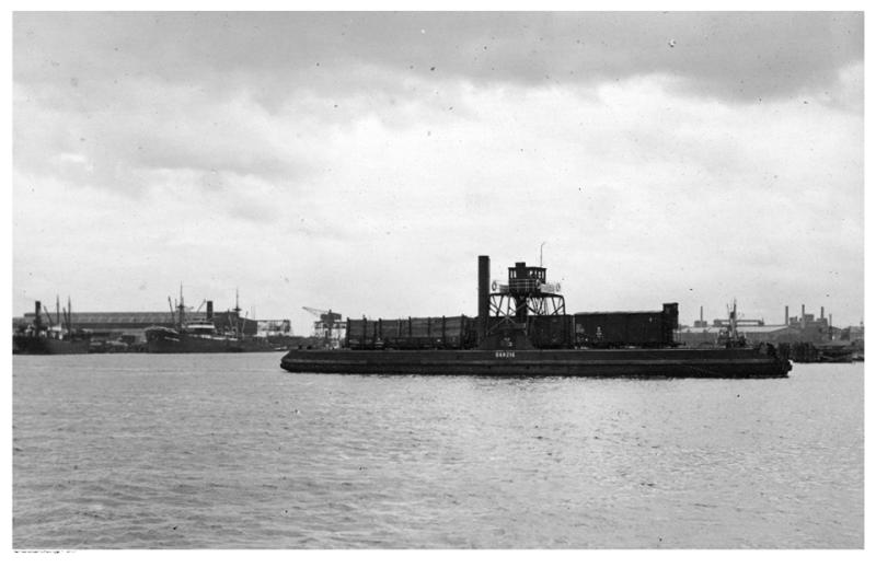 Prom kolejowy na wyspę Ostrów w roku 1926