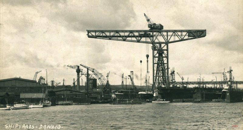 Stocznia Schichaua w Gdańsku w latach 20. XX wieku