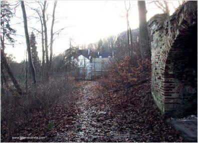 Ogród Dworu III, z prawej grota