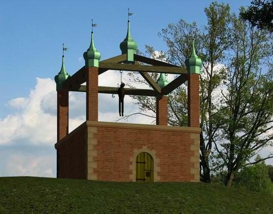 Rekonstrukcja gdańskiej szubienicy wg. A. Masłowskiego