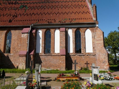 kościół w Marynowach, ściana południowa