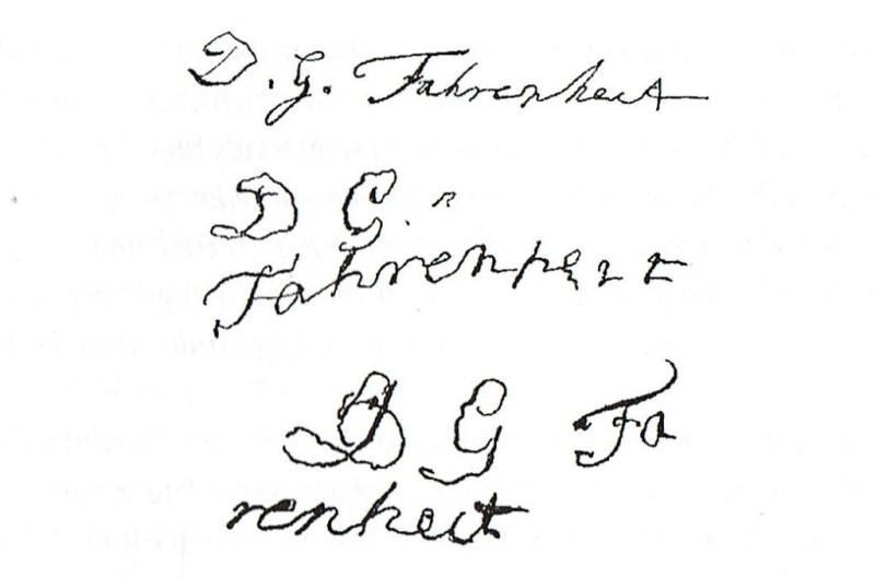 podpisy Fahrenheita