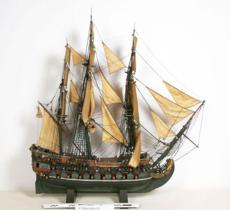 """Model okrętu """"Hans Becker"""","""