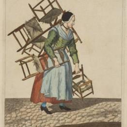 gdańscy wywoływacze - handlarka krzesłami