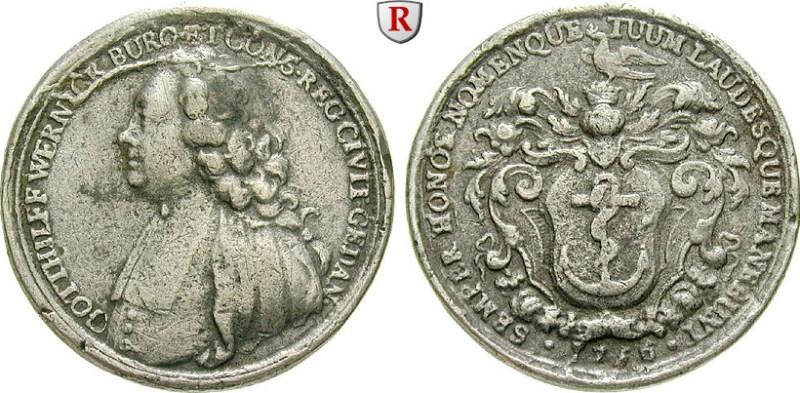 Medal na cześć G. Wernicka, 1756